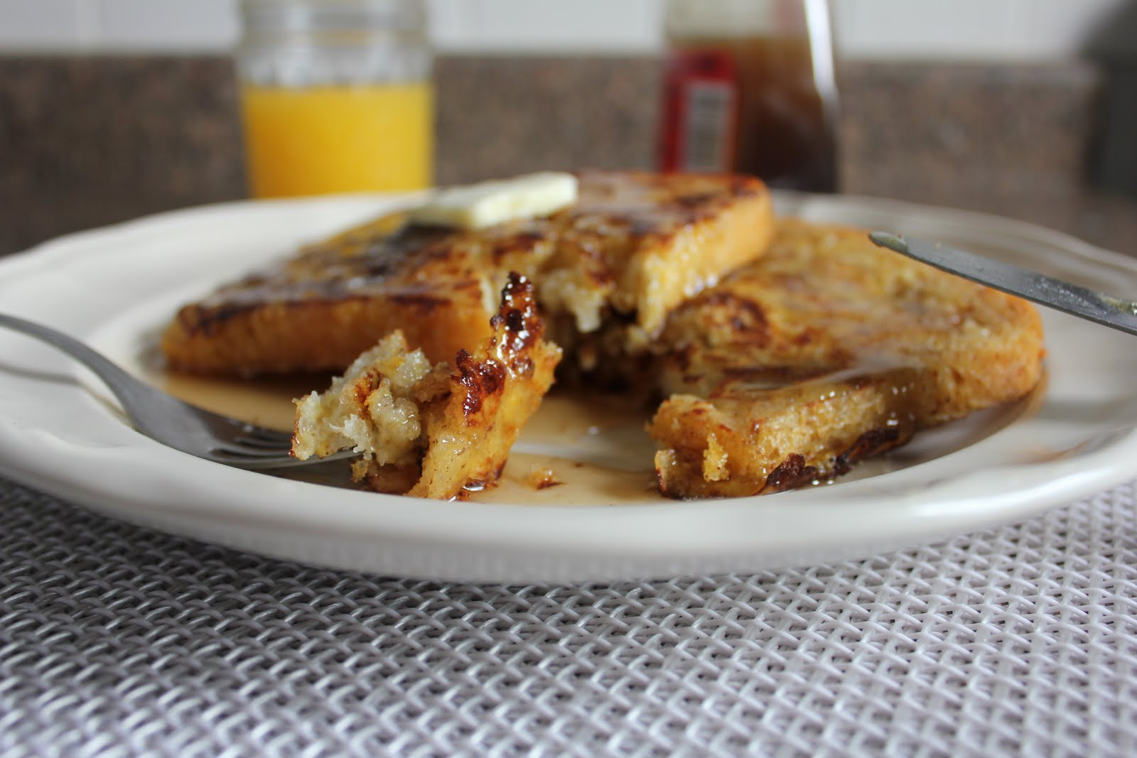 English Muffin French Toast and Buttery Pancake Syrup ...